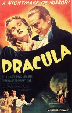 """Dracula (1931) Movie Poster 24""""x36"""" Movie Poster http://www.amazon.com/dp/B00KI21G9O/ref=cm_sw_r_pi_dp_10jHwb0TE9JAD"""