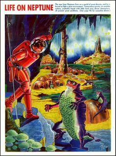 Life on Neptuno Ilustração de Frank Rudolph Paul