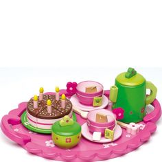 Birthday Tea Time Tray Set - Play kitchens and shops - Traditional Toys | Letterbox