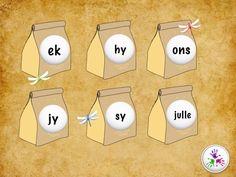 Sigwoorde deel in die vorm van 'n legkaart. Woorde in deel 2 sluit in: ek… Afrikaans Language, Puzzles For Kids, Phonics, Projects To Try, Dyslexia, Homeschooling, Classroom Ideas, Worksheets, Apps