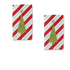 """Just For Bath Holiday Christmas Tree Fingertip Towel -Red- 11"""" X 17 """"- Set of 2 Just for Bath http://www.amazon.com/dp/B019CPX6V8/ref=cm_sw_r_pi_dp_UEYBwb0NNRM1B"""
