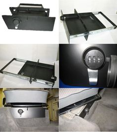 Locking Storage Drawer Under Front Seats