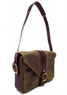 "Messenger bag for a 13"" MacBook. Made in Oregon. $425"