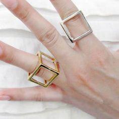 """Кольцо """"куб"""": 150 руб"""