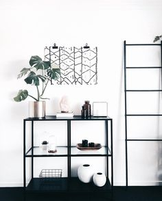 "2,687 Likes, 45 Comments - J E M Nordic Bohemian (@juthamat_by_jem) on Instagram: ""• I k e a • • • This is the IKEA Vittsjö shelf unit. Retail Aus $89.99 and it also comes in white.…"""