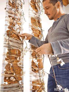 Pin by GlobalPetals on Gregor Lersch Designs Deco Floral, Arte Floral, Floral Design, Twig Art, Textiles Sketchbook, Yarn Wall Art, Deco Nature, Nature Crafts, Ikebana