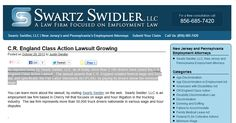 As reported today by Swartz Swidler, LLC, as of today, more than 2,100 drivers have joined the C.R. England Class Action Lawsuit.  The lawsuit asserts that C.R. England violated federal wage and hour law, and specifically, the Fair Labor Standards Act (FLSA), by paying its drivers below the minimum wage. - See more at: http://nj-discrimination.com/#sthash.5qWRY5tV.dpuf