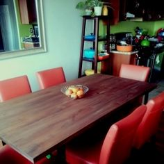 How to mix and match dining room table and chairs from different stores. Condo living.
