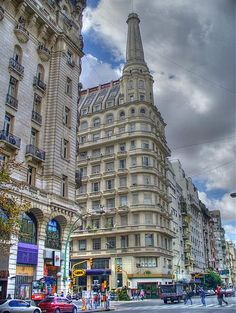 Santa Fe y Av. Avenida Santa Fe is one of the principal thoroughfares in Buenos Aires, Argentina. Visit Argentina, Argentina Travel, Most Beautiful Cities, Beautiful Places To Visit, Argentine Buenos Aires, Scenic Photography, Landscape Photography, Largest Countries, Old Building