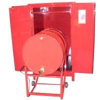 Armário corta fogo para tambor horizontal  Armário corta fogo para tambor horizontal para prevenção contra incêndios, garantindo um ambiente de trabalho organizado e seguro.