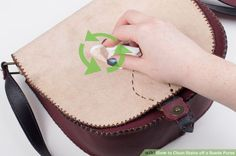 3 Ways to Clean Stains off a Suede Purse - wikiHow How To Clean Suade 4134512860d37