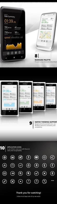 GPS Cycle (Metro application) by Alexey Tcherniak, via #Behance #Mobile #App