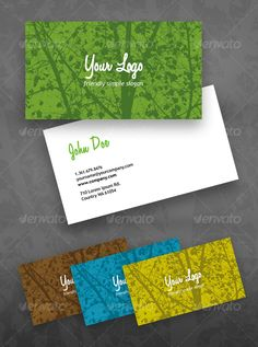 Eco Green business card — Photoshop PSD #modern #clean • Available here → https://graphicriver.net/item/eco-green-business-card/45291?ref=pxcr