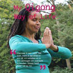 Elke dag even stilstaan, Qigong oefeningen doen en je verbinden met je lijf, je zenuwstelsel, je hart. Het geeft je kracht en rust en verbindt je met je intuïtie.  I am a Qigong Life Lover!