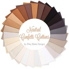 Neutral Confetti Cottons Fat Quarter Bundle Riley Blake Designs