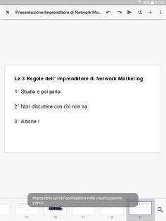 Le 3 regole dell' Imprenditore di Network Marketing