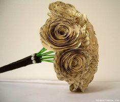 Wedding flowers. Paper flowers