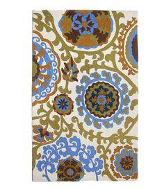 Love this Blue Biloxi Rug on #zulily! #zulilyfinds