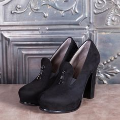 MINNIE - black suede  #altiebassi #autumn #winter #italianshoes