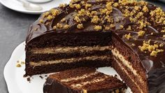 Owned by cocoa farmers. Made for chocolate lovers. Greek Sweets, Greek Desserts, Greek Recipes, Chocolate Week, Chocolate Fudge Cake, Divine Chocolate, Delicious Desserts, Yummy Food, Cakes For Boys
