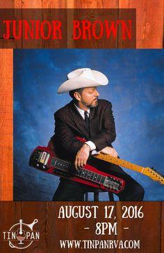 "Junior Brown peformed with his signature ""Guit-Steel"" Guitar on 8/17/16 #CountryMusic #Guitar #JuniorBrown #LiveMusic #MusicVenu #Richmond #Virginia"