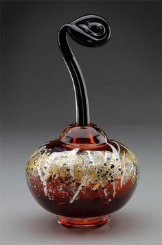 Sharon Fujimoto Hand Blown Art Glass - Perfume Bottles