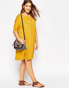 Image 4 of ASOS CURVE The T-Shirt Dress