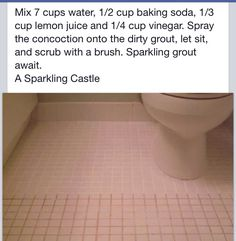 How to clean tiles & grout