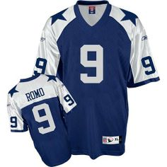 Reebok Dallas Cowboys Tony Romo Replica Throwback Jersey Extra Large by Reebok. $64.99. Officially licensed v-neck jersey features screen-printed player name and numbers on rear of jersey, as well as additional screen printed numbers, label and NFL Equipment logo on front of jersey. Made of durable, quick drying nylon dazzle material.. Approximate chest measurements: M=38/40, L=42/44, XL=46/48 2X=50/52. Save 24%!