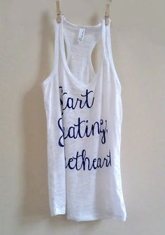 Small White Womens Start Sweating Sweetheart Crossfit/ Fitness / Workout Tank Top. $22.00, via Etsy.
