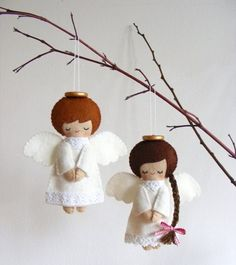 Christmas angels from felt