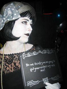 Jen, silent film star by roxy.toxic, via Flickr Monochrome Halloween costume. #awesome