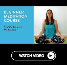 """Free Beginner Meditation Course - Video 17 Color Meditation Follow us for more meditation advice. Follow us for more meditation advice. In this video I teach you the color meditation. A wonderful...""""  #meditating #mindfulness #meditate Beginner Meditation, Om Meditation, What Is Meditation, Meditation Videos, Meditation Benefits, Meditation Practices, Free Blog, Improve Yourself, Coaching"""
