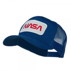 Find our other diverse selection of unique and stylish Royal NASA Logo Embroidered Patched Mesh Back Cap for all kinds of outings. Quality embroidered patches are available in hundreds of U. Mens Dress Hats, Men Dress, Baseball Cap Outfit, Baseball Caps, Cap Girl, Hat Patches, Embroidered Caps, Mesh Cap, Cool Hats
