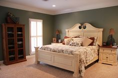 The master bedroom got painted Sherwin Williams Retreat