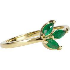 Finn Emerald & Gold Leaf Ring at Barneys.com