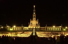 Basilica of the Rosary Shrine of Fatima - midnight candle lit procession.
