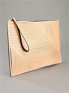"""Alison Dunlop - Laser Cut clutch """"If you do not put Our Lord to the first row in your heart, you will both lose Him and the ones whom you put to the first row. My Bags, Purses And Bags, Clutch Wallet, Pouch, Clutch Bags, Leather Projects, Leather Clutch, Leather Totes, Leather Bags"""