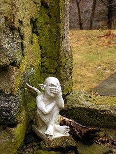 White Garden Gargoyle by Henry M. Diaz