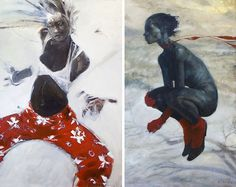 I recently went to a show of Rick's at the Harrison Street galleries. His work is so amazing!
