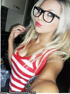 glasses girl with Hot sexy blonde