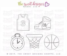 Basketball Cookies, Mini Basketball Hoop, Basketball Jersey, Anchor Stencil, Royal Icing Cookies, Cookie Designs, Cellophane Bags, Digital Stamps, Svg Cuts