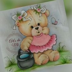Ceila Mara's media content and analytics Teddy Bear Drawing, Cute Bear Drawings, Baby Drawing, Tatty Teddy, Tole Painting, Fabric Painting, Airbrush Designs, Painting Templates, Bear Pictures