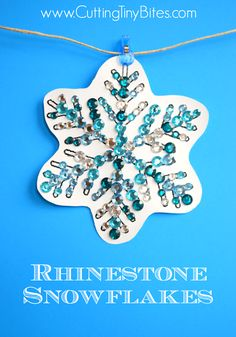 Rhinestone Snowflakes from Cutting Tiny Bites