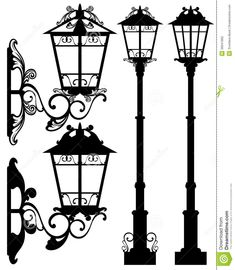 15 Best Street Lantern Vectors Silhouettes images in 2018