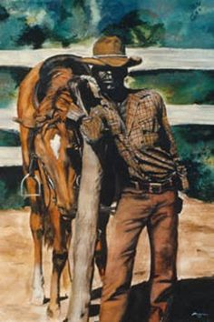 17 African American Cowboy and Cowgirl Images We Love – Black Southern Belle Black Cowgirl, Black Cowboys, Cowboy And Cowgirl, Real Cowboys, Cowgirl Style, African American Artist, American Artists, African Art, Native American