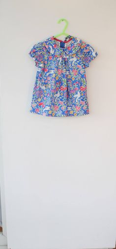 Cute dress and matching pants, outfit for a one year old. Gift idea , party dress.Michael Miller fabric 'Summer Garden'. by DottyBirdKidsClothes on Etsy