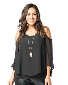Exposed Shoulder Tunic - Ruby Ribbon. This top comes in two colors and is one of our most popular sellers, I can be worn 5 different ways,