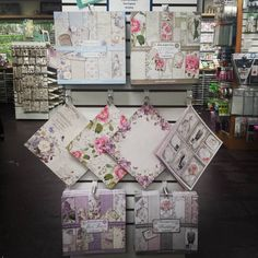 "*New Goodies* JUST IN FROM ITALY ""STAMPERIA"" 12 X 12 Delicately beautiful Scrapbooking Pads. They are gorgeous. Lilac Flowers, Letters & Flowers, New England, and Wedding Available in store ONLY #Scrapbookingmadesimple"