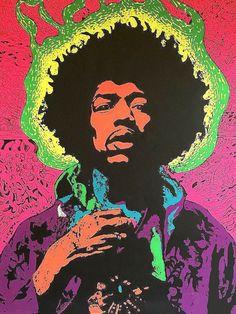 Jimi Hendrix black light poster replica magnet - new! Posters Vintage, Retro Poster, Poster S, Psychedelic Rock, Psychedelic Posters, Affiche Jimi Hendrix, Arte Pink Floyd, Art Hippie, Pop Art